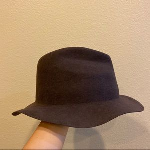 Zara Men's 100% Wool Brown Fedora Hat Size:L